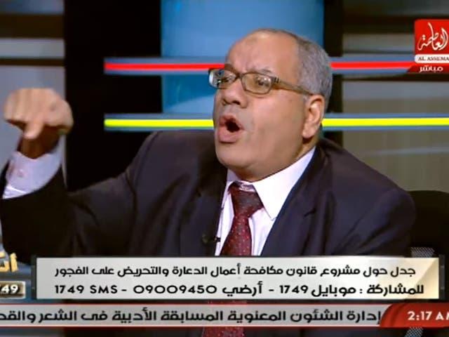 Nabih al-Wahsh speaking on AlAssema Tv