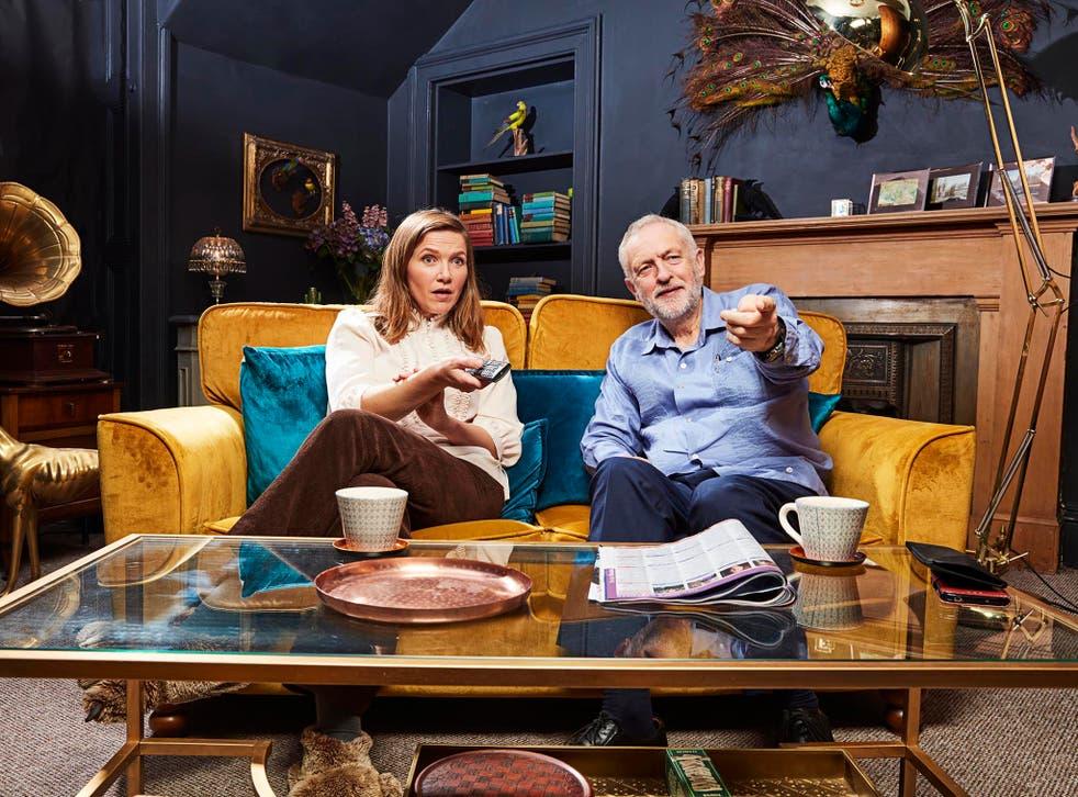 Jeremy Corbyn and Jessica Hynes on Celebrity Gogglebox