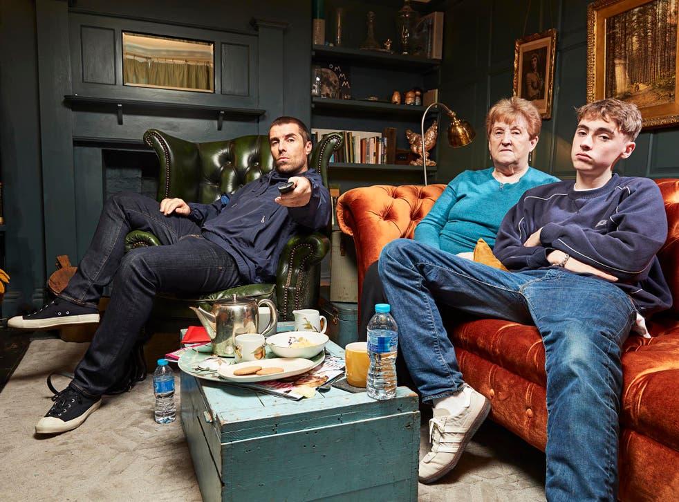 Liam Gallagher, mum Peggy and son Gene on Celebrity Gogglebox