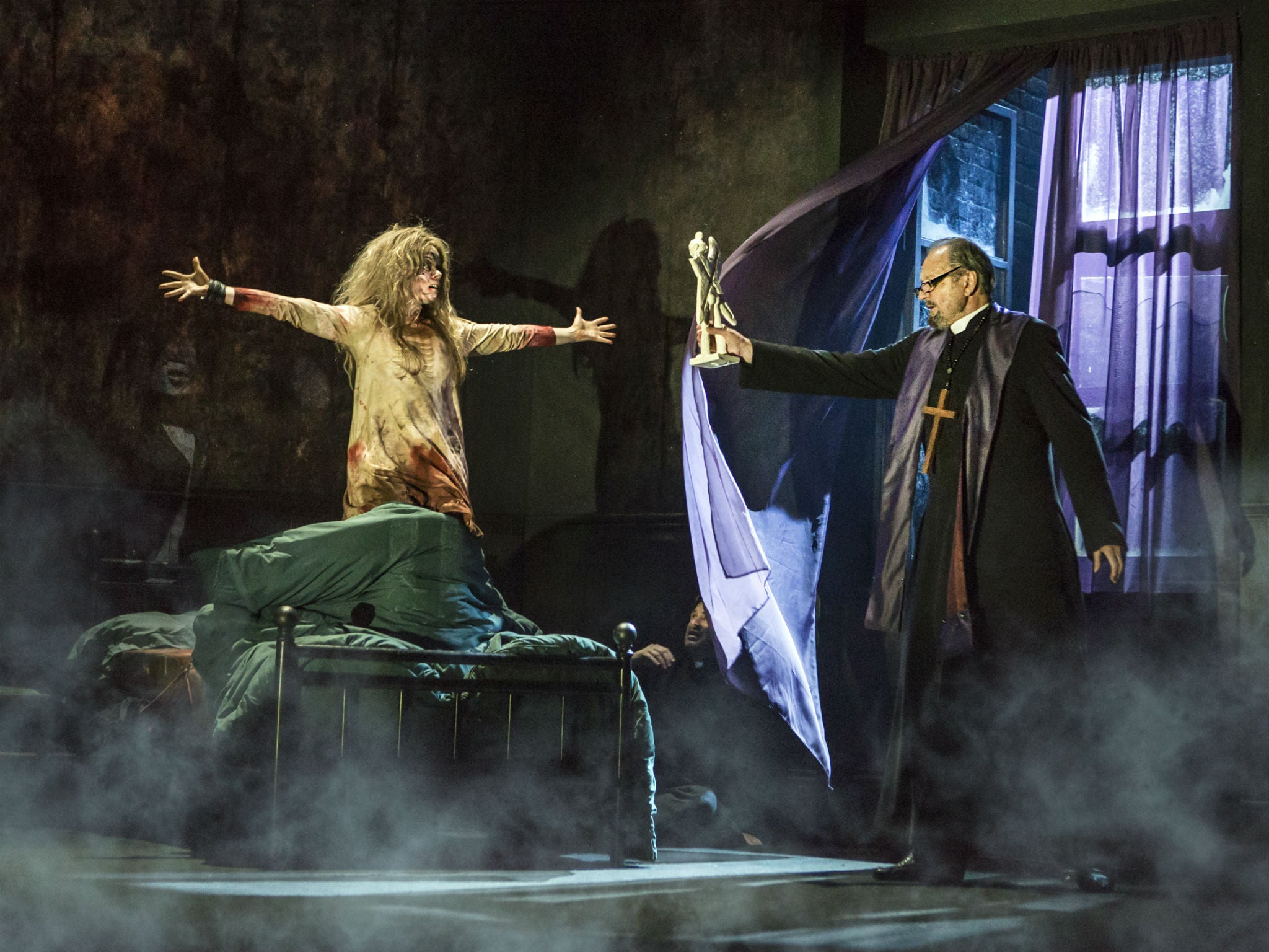 The Exorcist, Phoenix Theatre, London, review: This show is less scary than  the film but more profoundly disturbing | The Independent