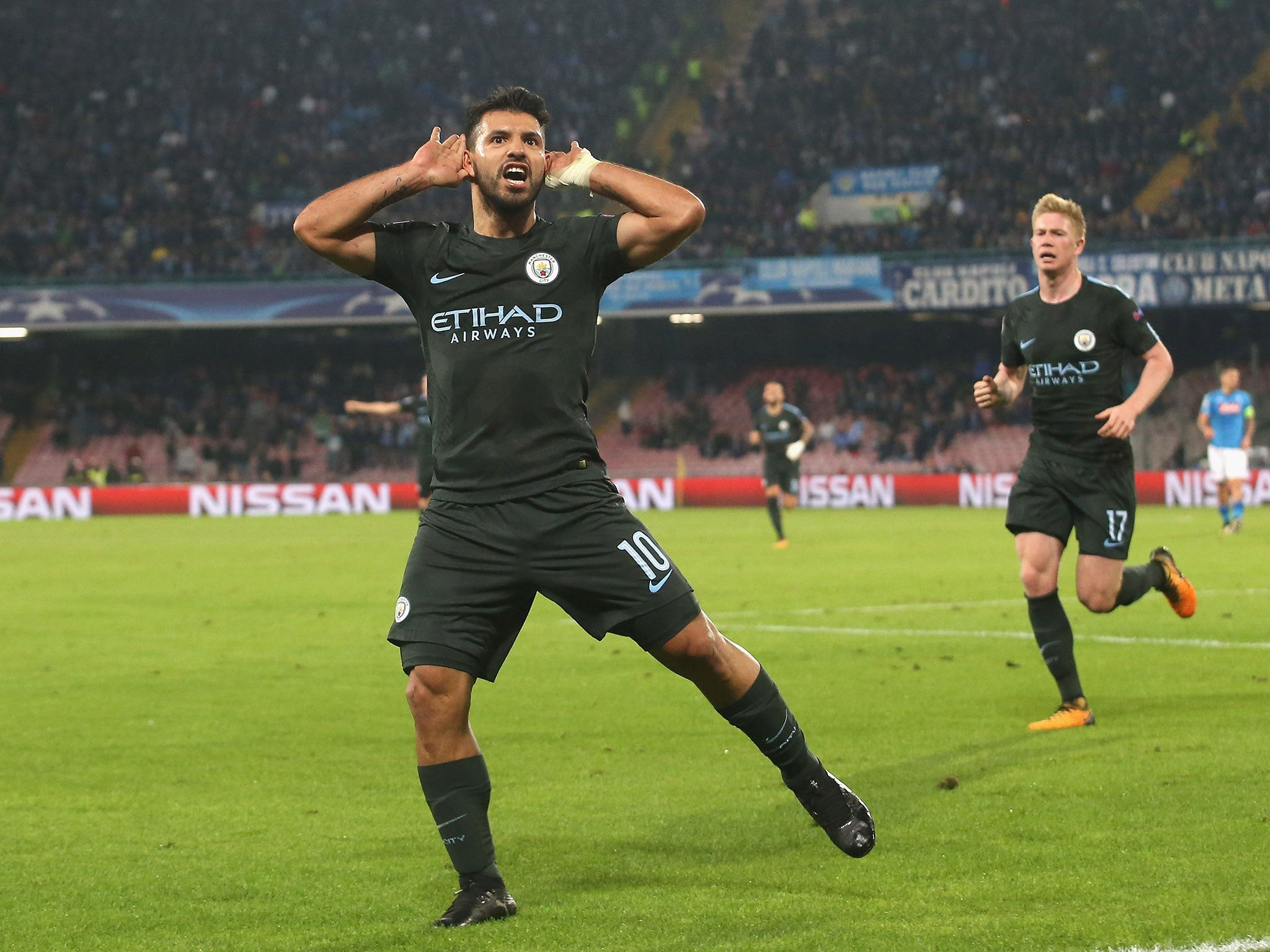No limits for Sergio Aguero as Manchester City history maker