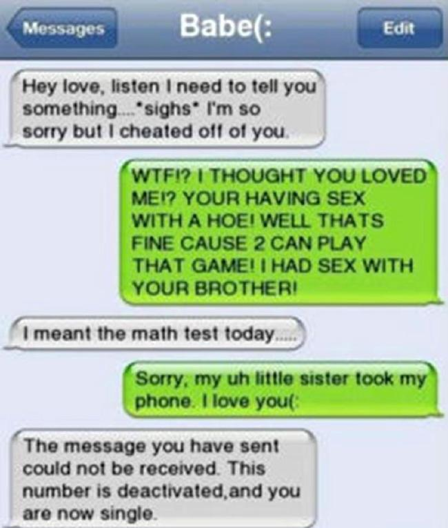The awkward moment cheaters get busted via text | indy100