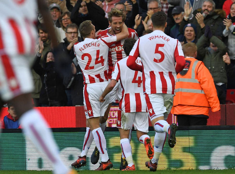 Peter Crouch climbed off the bench to earn Stoke a point