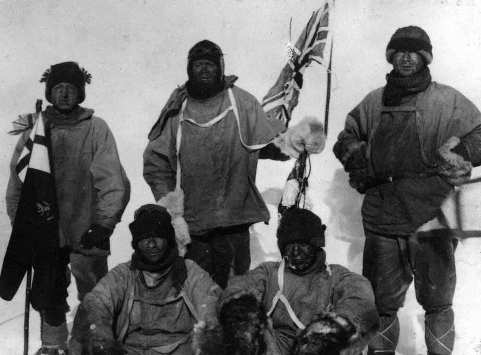 Explorer Captain Robert Scott and his four-man team arrived at the South Pole only to find a crew of Norwegian explorers had reached there 34 days earlier