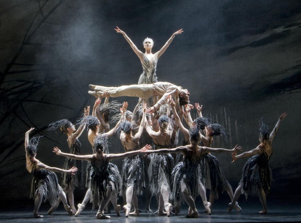 Jenna Roberts as the Fairy with Artists of Birmingham Royal Ballet in 'Le Baiser de la fée' at Sadler's Wells