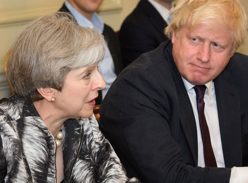 Ms May will be joined by Foreign Secretary Boris Johnson and others at the meeting