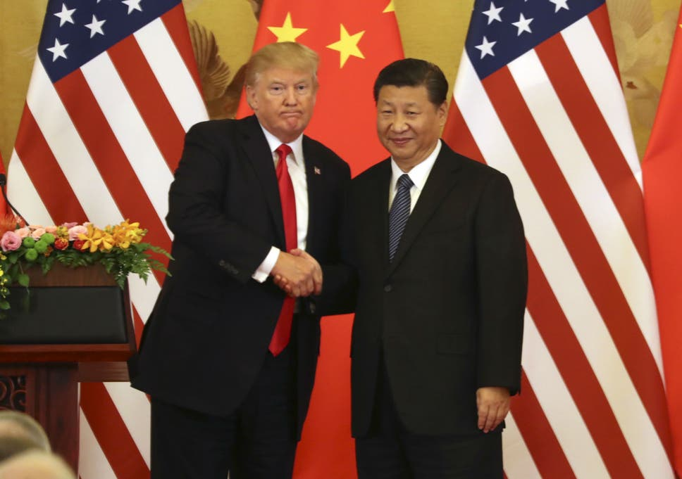 Image result for President Trump has called for Chinese President Xi Jinping.