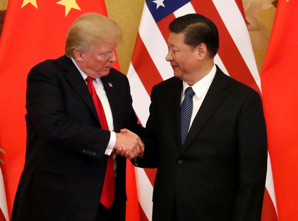 US President Donald Trump and China's President Xi Jinping make joint statements at the Great Hall of the People in Beijing