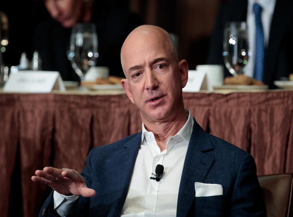 Mr Bezos started Amazon from his basement in Seattle before it later became one of the world's biggest online retailers