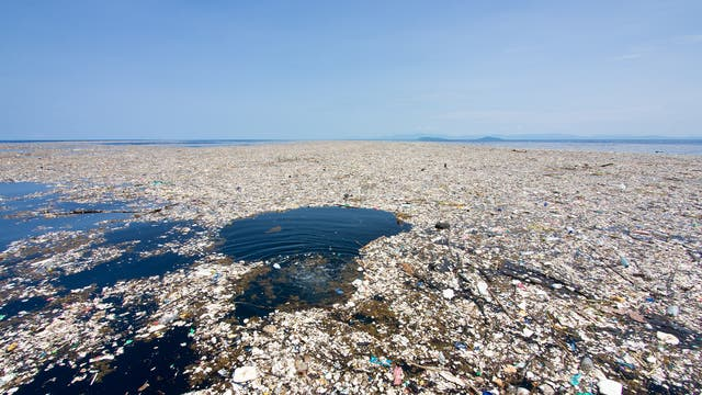 Plastic as far as the eye can see