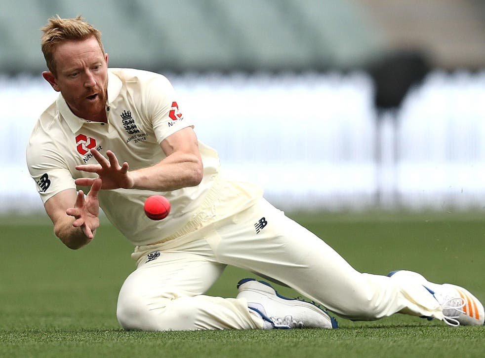 Fielding coach Paul Collingwood was forced into the field in Adelaide