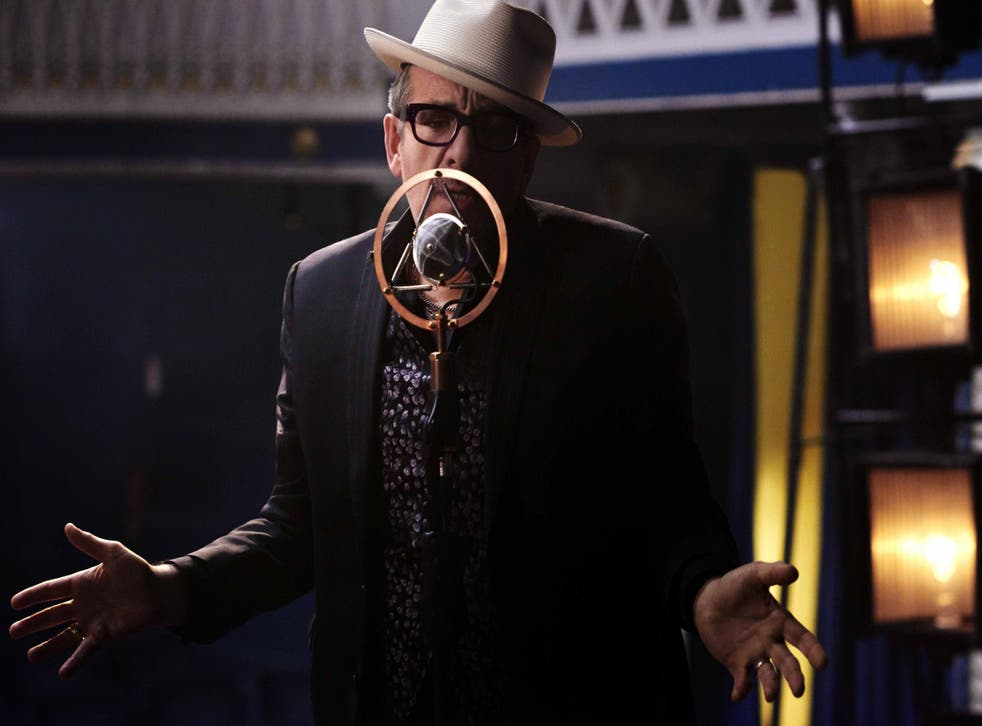 Elvis Costello performing his new song 'Please Don't Look At Me That Way'