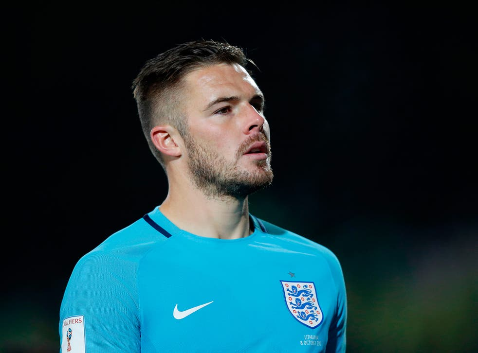 Jack Butland broke his finger while training with England on Thursday