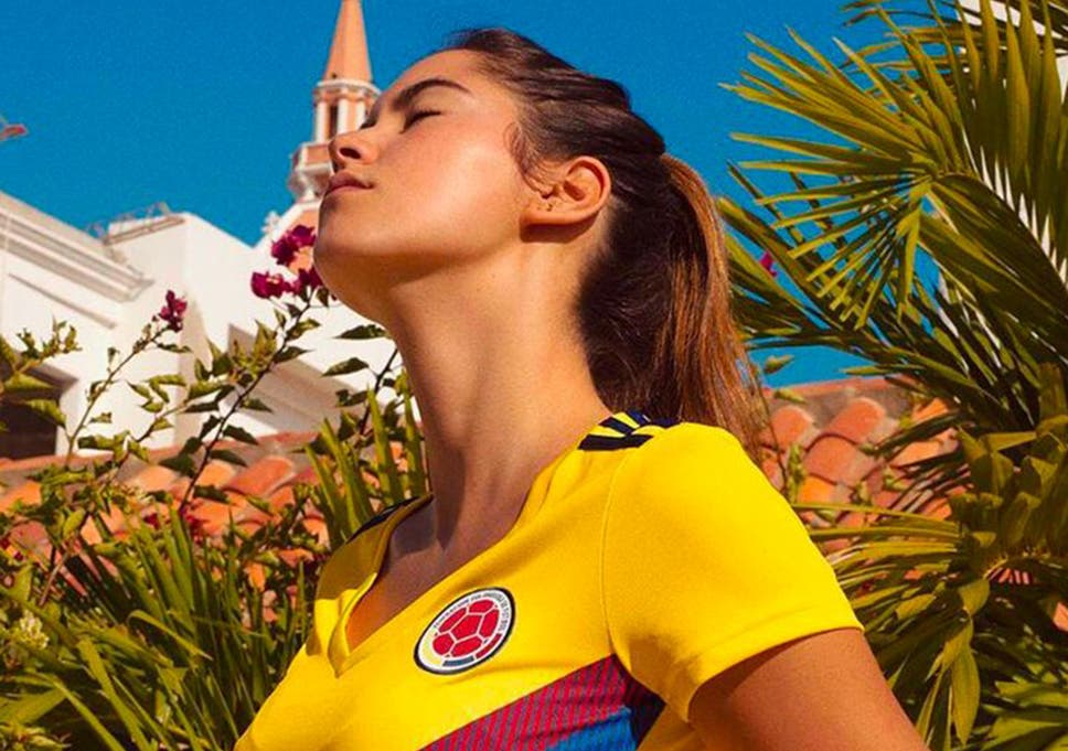 80e1a877d45 Former Miss Colombia Paulina Vega Dieppa was selected to unveil the new  Colombia Women shirt