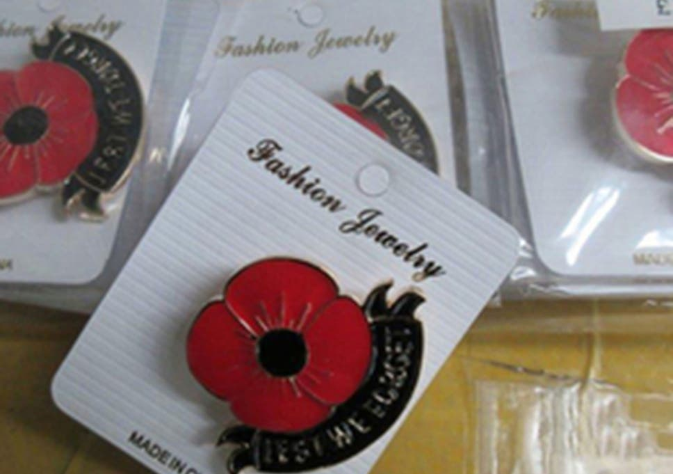 Remembrance day border force seizes 150000 of fake poppy border force officers seized fake poppy branded jewellery key rings and scarves estimated to be mightylinksfo