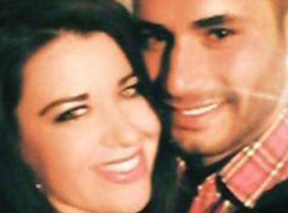 Laura Plummer with her partner Omar Caboo