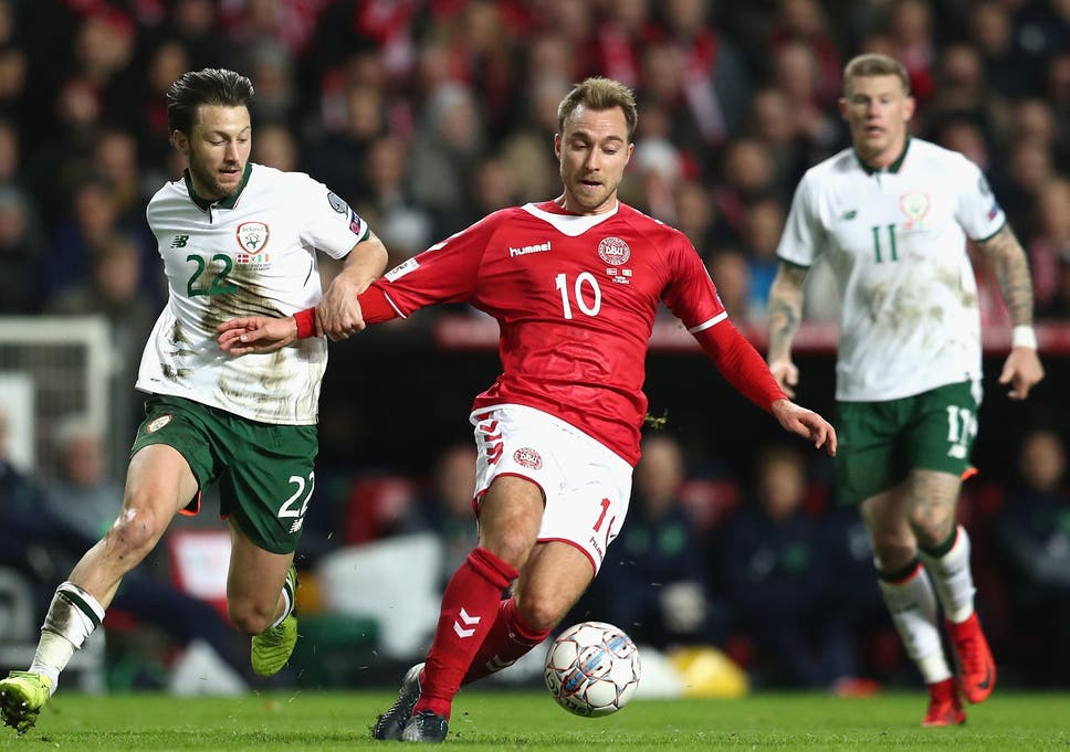 ff6e2d3185e Republic of Ireland hold Denmark to high-pressure draw and set up grand  occasion in Dublin World Cup play-off