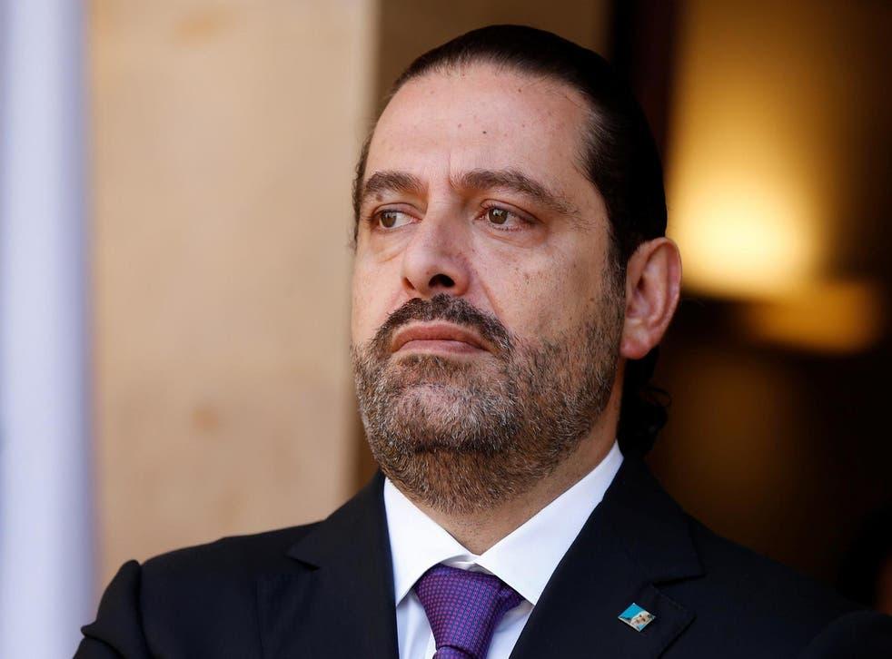 Hariri has not returned to Lebanon since he declared his shock resignation