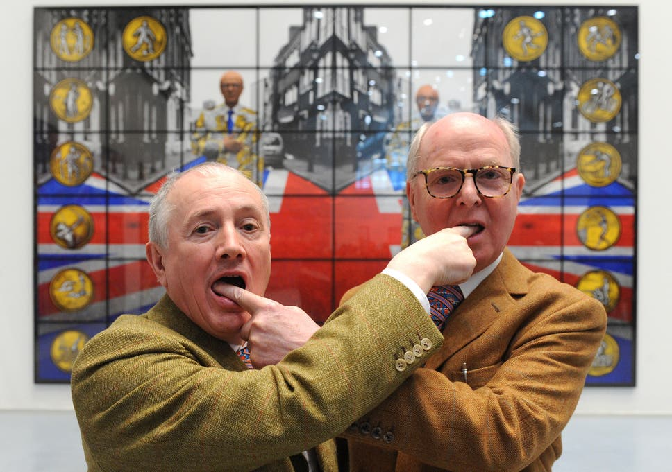 Artists Gilbert George Are Celebrating  Years Of Working Together