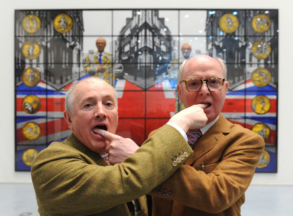 Artists Gilbert & George are celebrating 50 years of working together