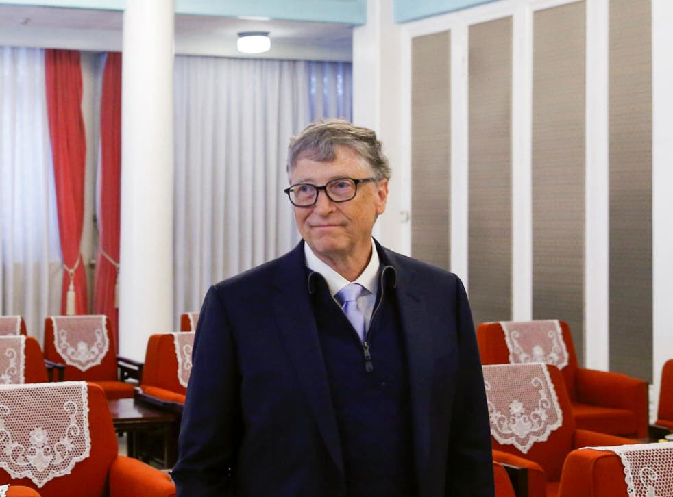 Microsoft co-founder and philanthropist Bill Gates attends a meeting with Chinese Premier Li Keqiang (not pictured) at the Zhongnanhai government compound in Beijing, China, November 3, 2017