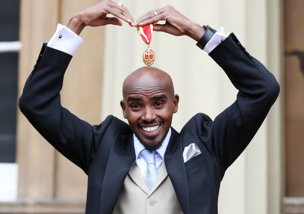 703ba0eab5df4 Mo Farah officially received his knighthood from the Queen on Tuesday