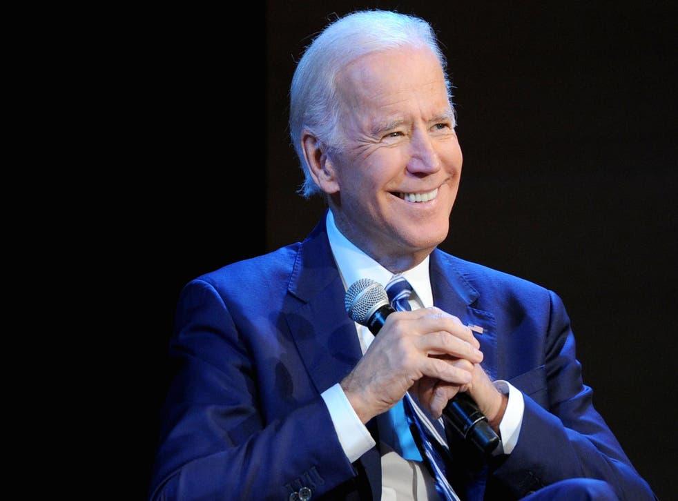 Joe Biden has not ruled out running for president in 2020