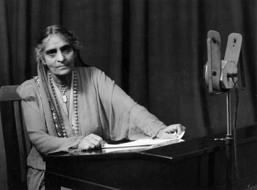 Indian barrister Cornelia Sorabji making a radio broadcast