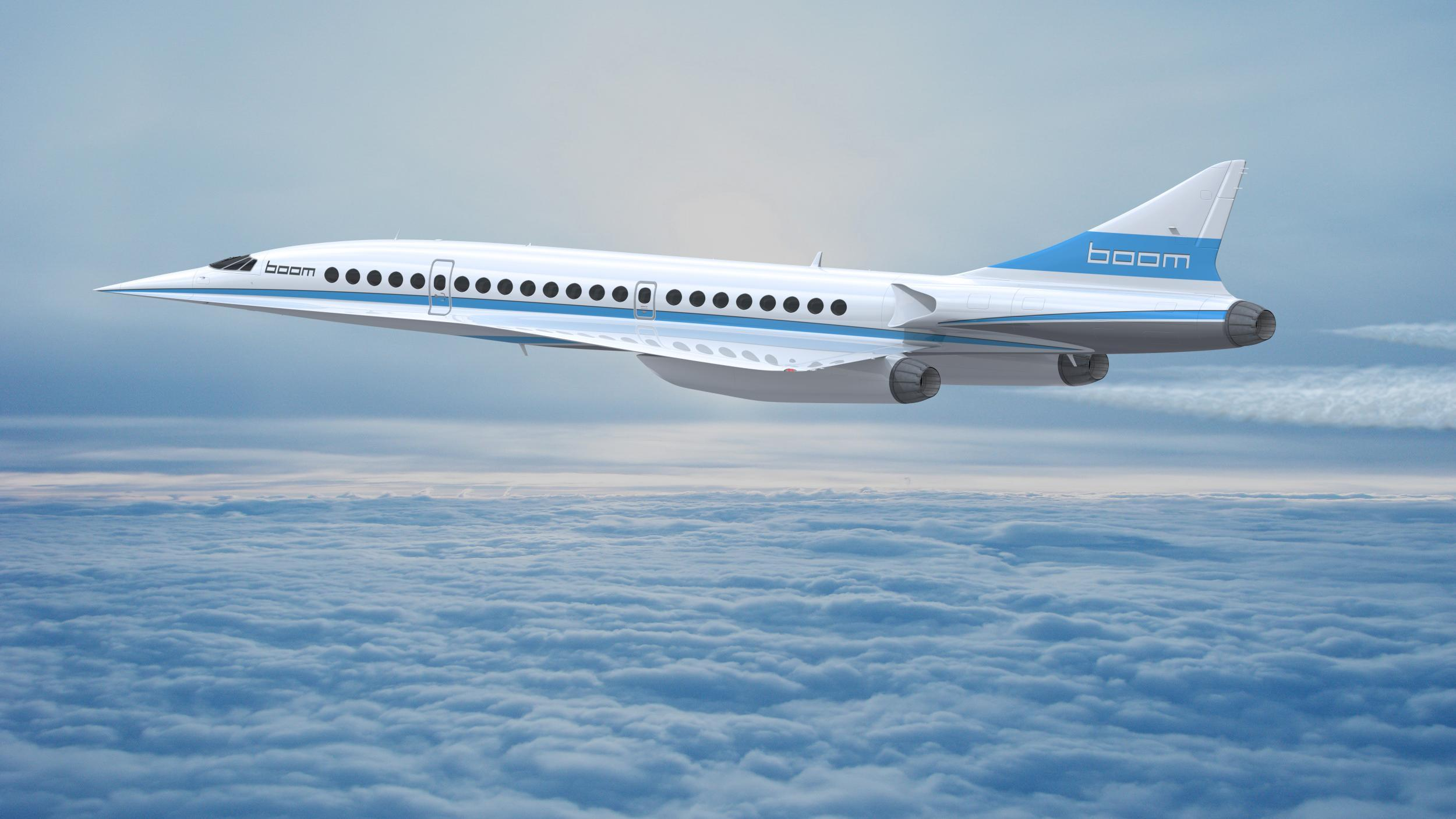 Boom Supersonic jet set to fly from London to New York in three hours 15 minutes by 2025