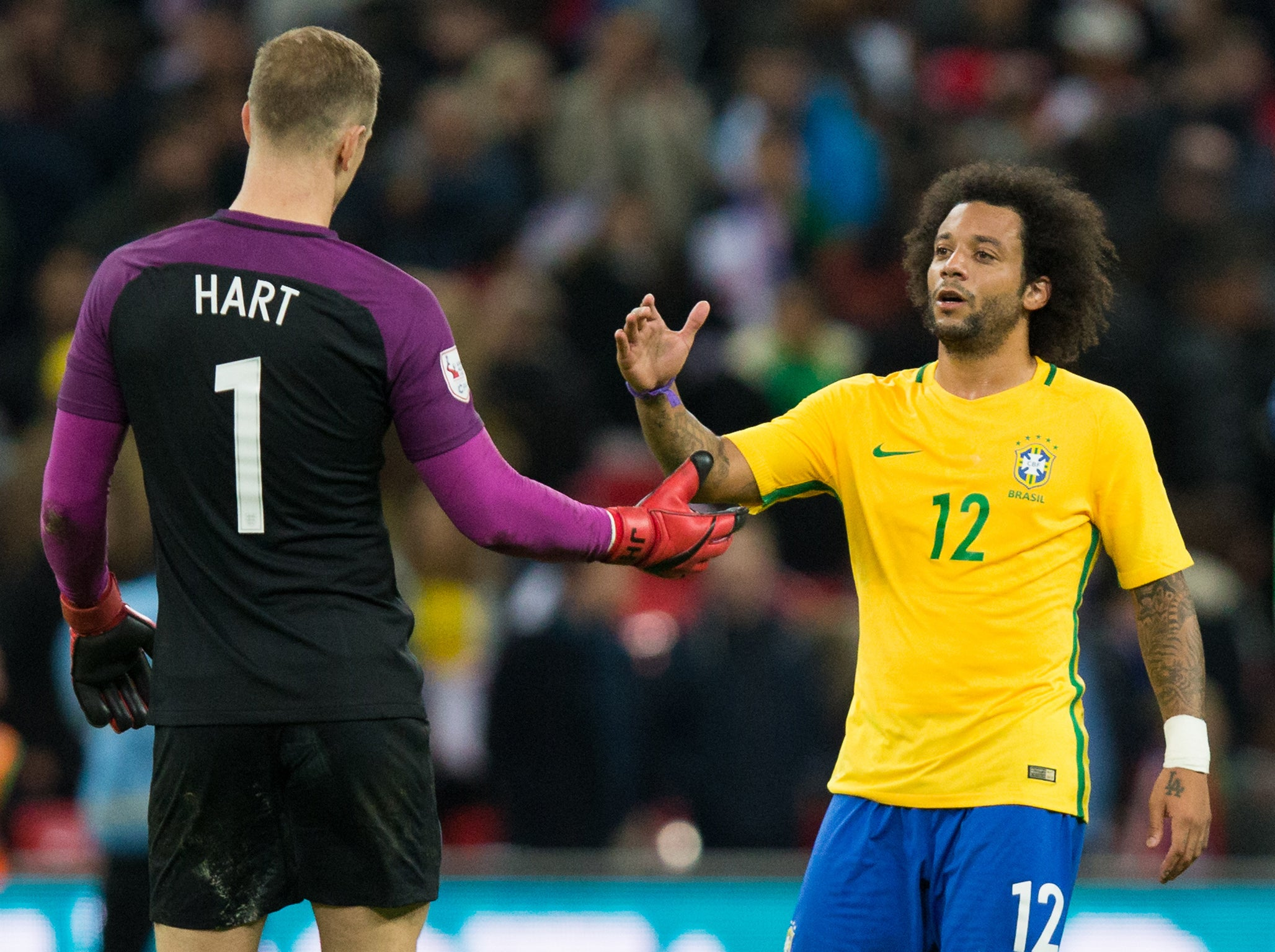 Brazil stars united in praise for England's defence after Three Lions match World Cup favourites at Wembley
