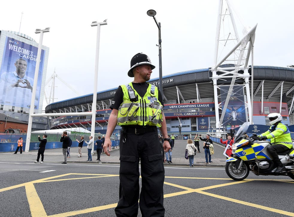 The stadium in Cardiff has seen crowd difficulties