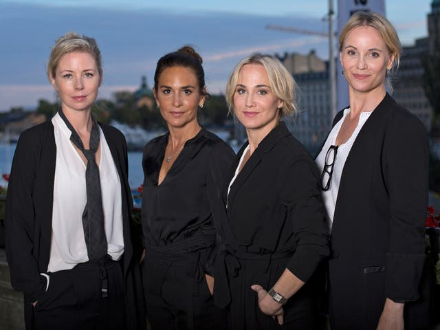 Julia Dufvenius, Alexandra Rapaport, Anja Lundqvist and Sofia Helin are working on a new show called 'Honour'