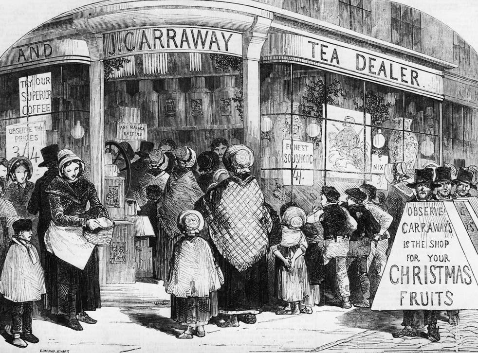 Form an orderly (British) queue: Ordering your turkey for home delivery is one of the delights people in 1850 did not have