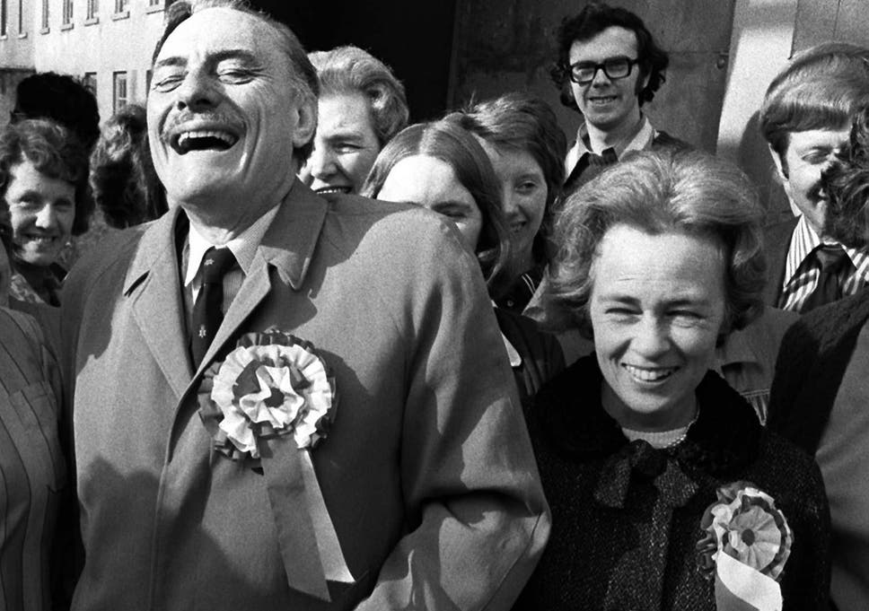 Pamela Powell With Her Husband In 1974 During His Election Campaign As The United Ulster Unionist