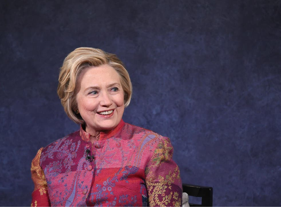 Former US Secretary of State Hillary Rodham Clinton speaks onstage during The Child Mind Institute Summit: 13 November 2017 in New York City.