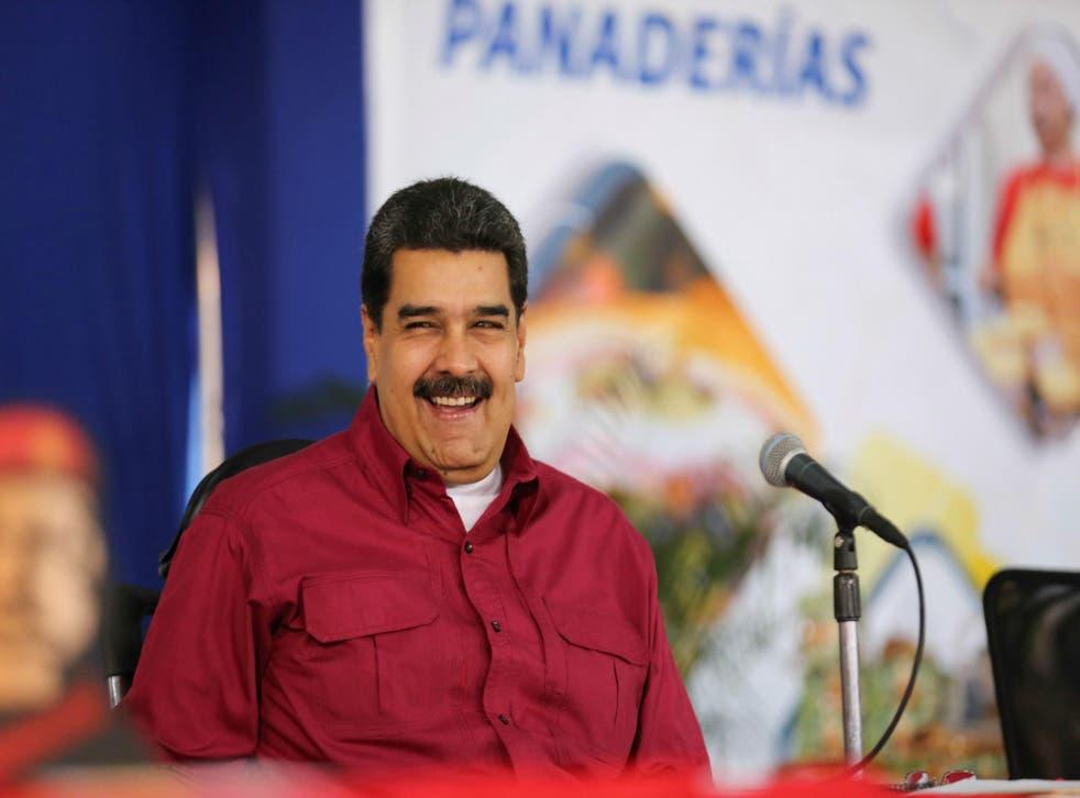 Mr Maduro has described Donald Trump as the 'new Hitler'