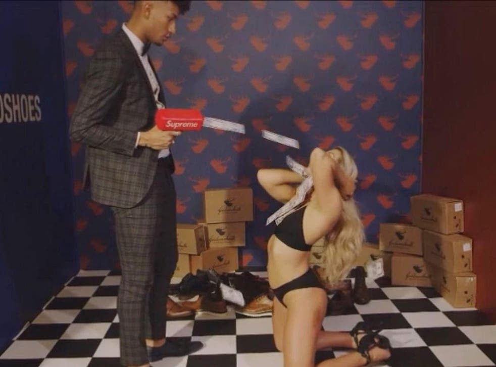 A still from the video advert now banned by authorities