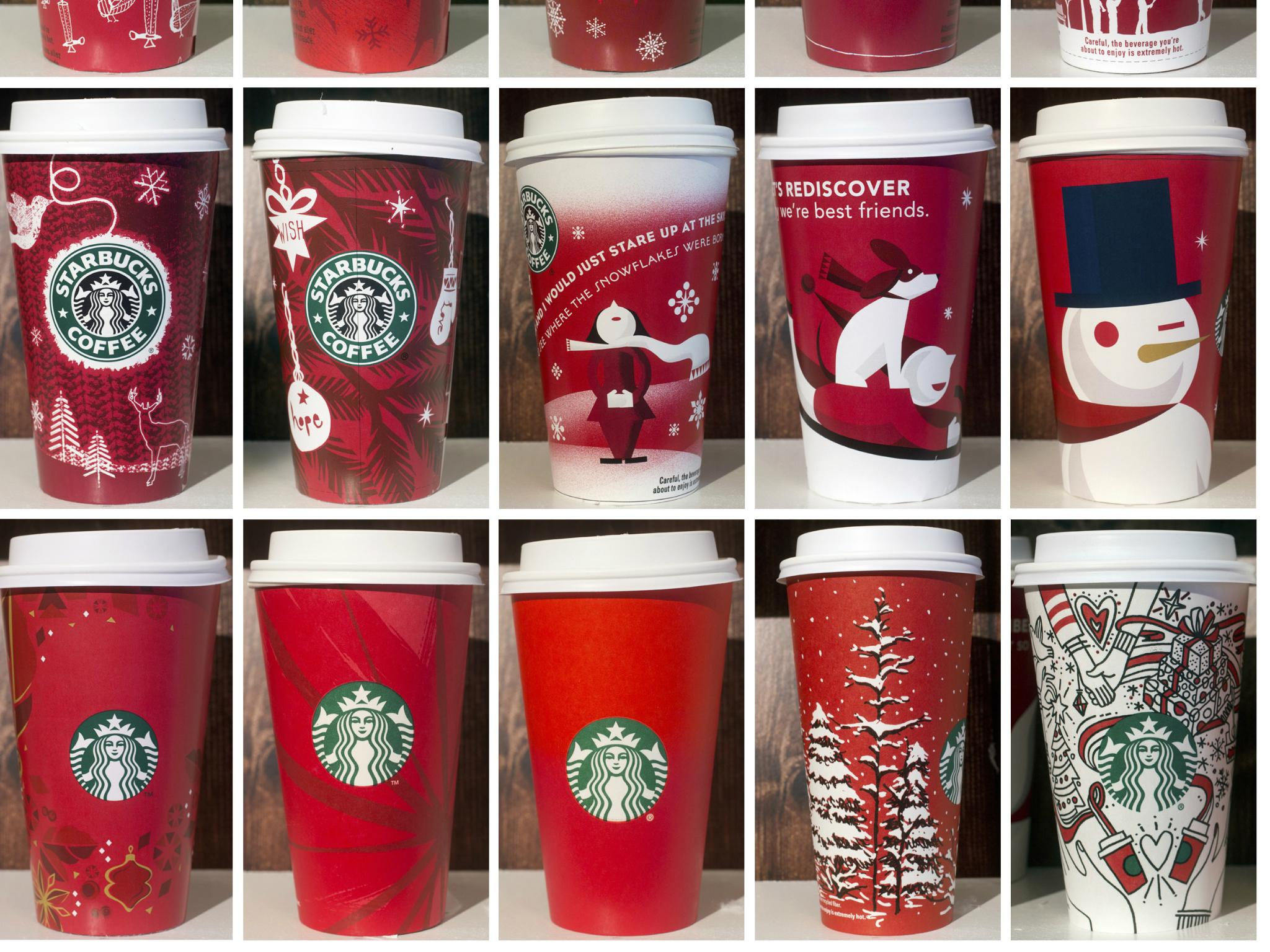 starbucks under fire over holiday cups that feature same sex couples hands the independent