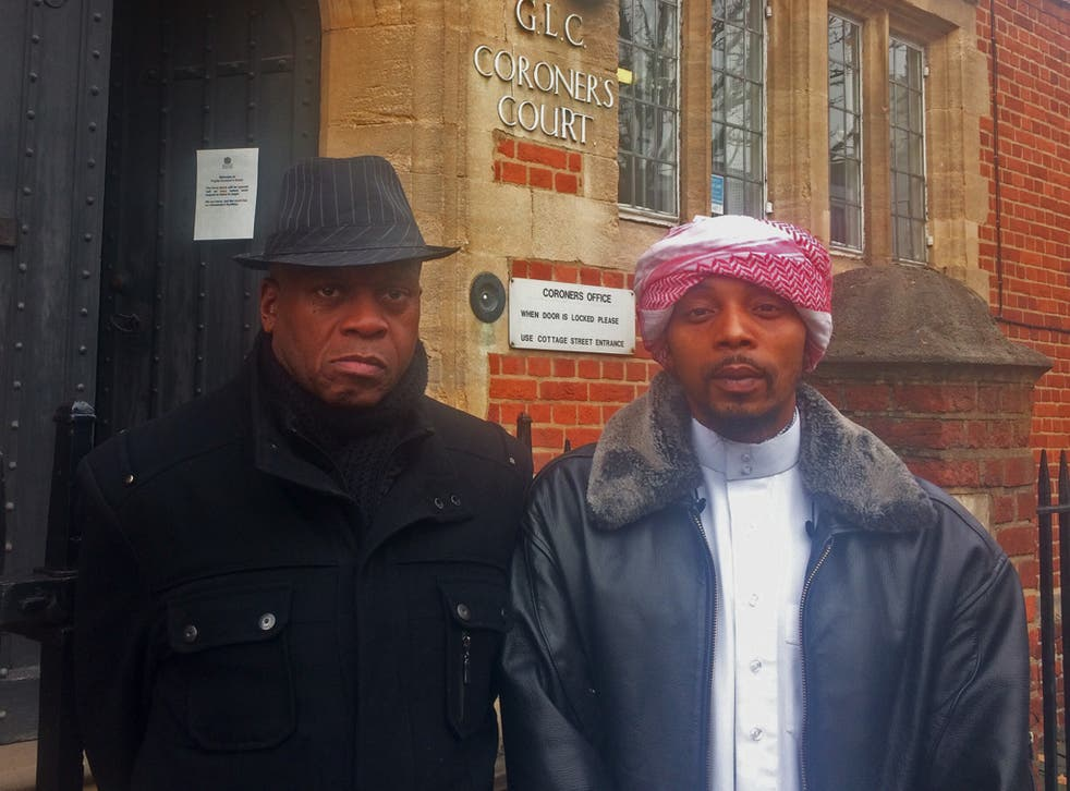 Mr Charles' great uncle and father, John Noblemunn and Esia Abu Mohammed, said granting the officer anonymity demonstrates the 'lack of transparency' in the justice system