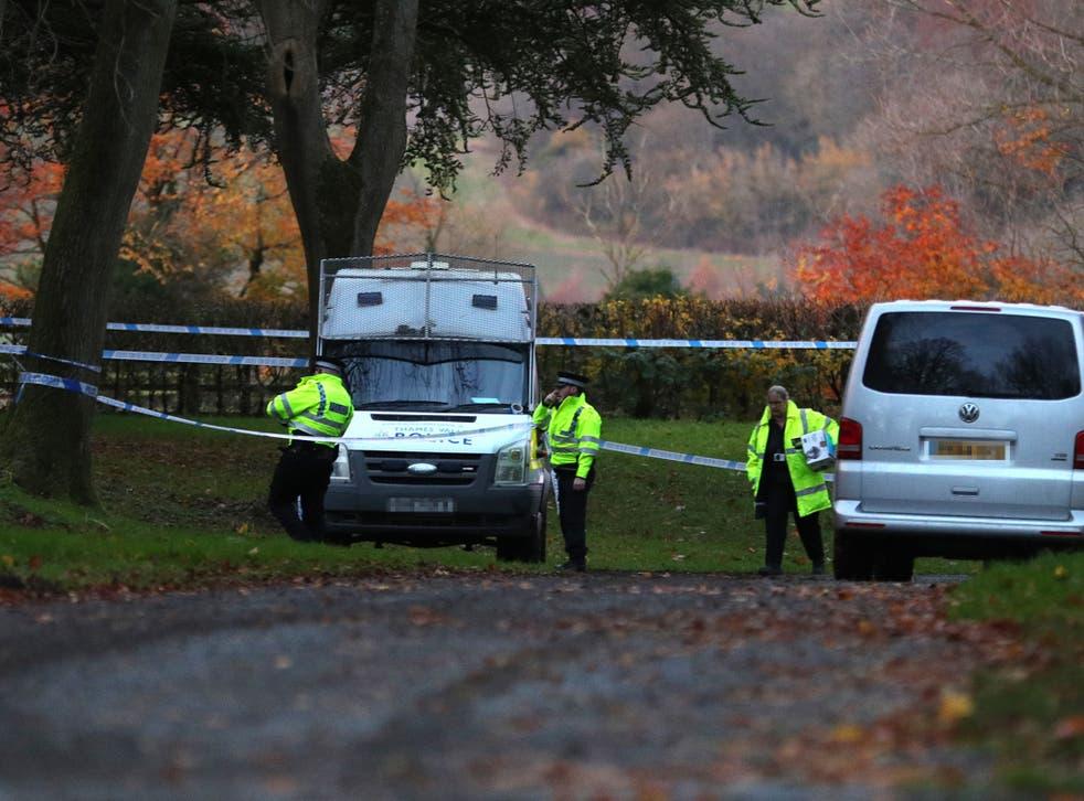 Police at the scene near Waddesdon
