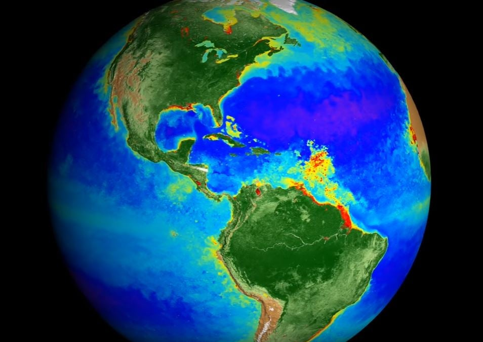 nasa map of earth over 20 years highlights astonishing impact of climate change the independent
