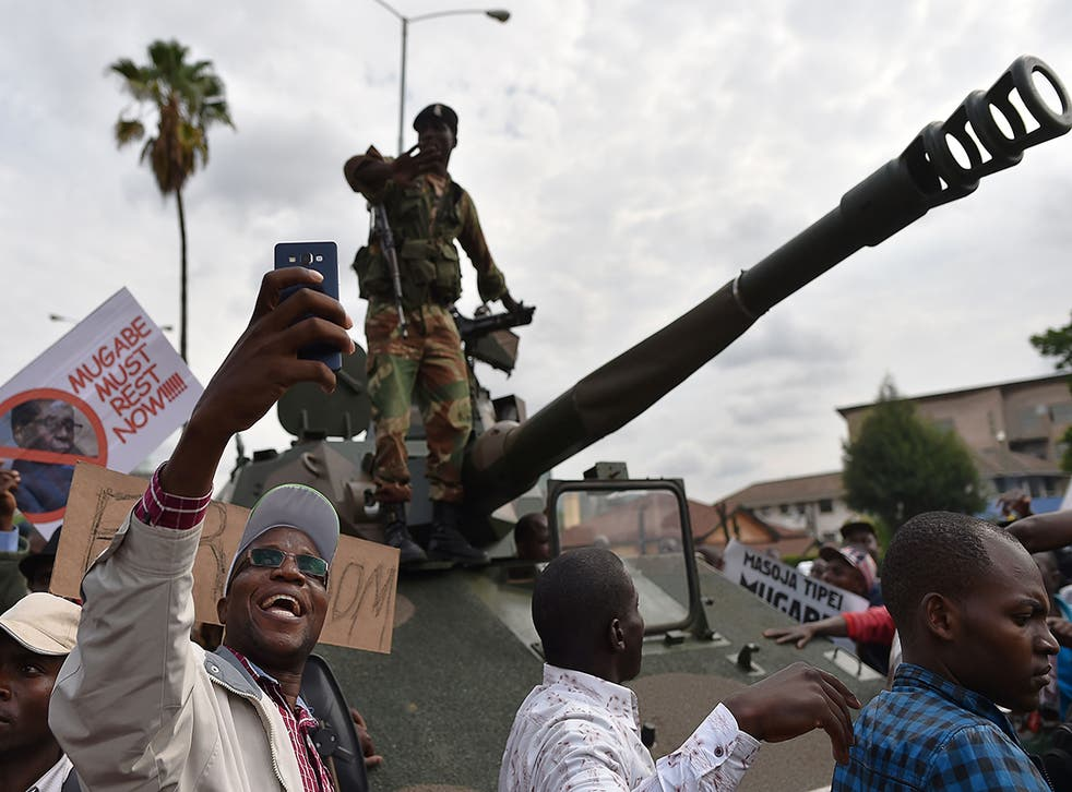 Most people in Harare reportedly took to the streets without fear of police crackdown