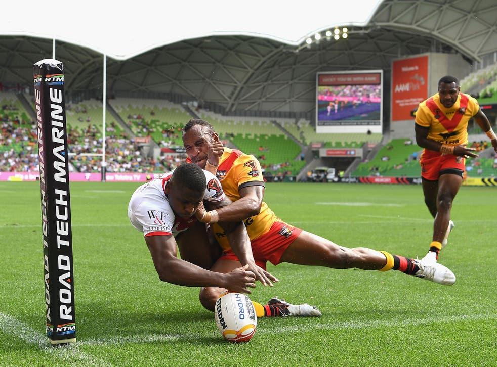Jermaine McGillvary scored twice as England defeated Papua New Guinea 36-6