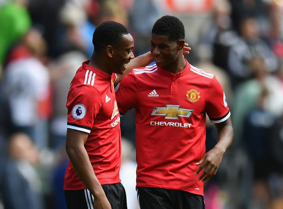Martial and Rashford often take up the same position on the pitch