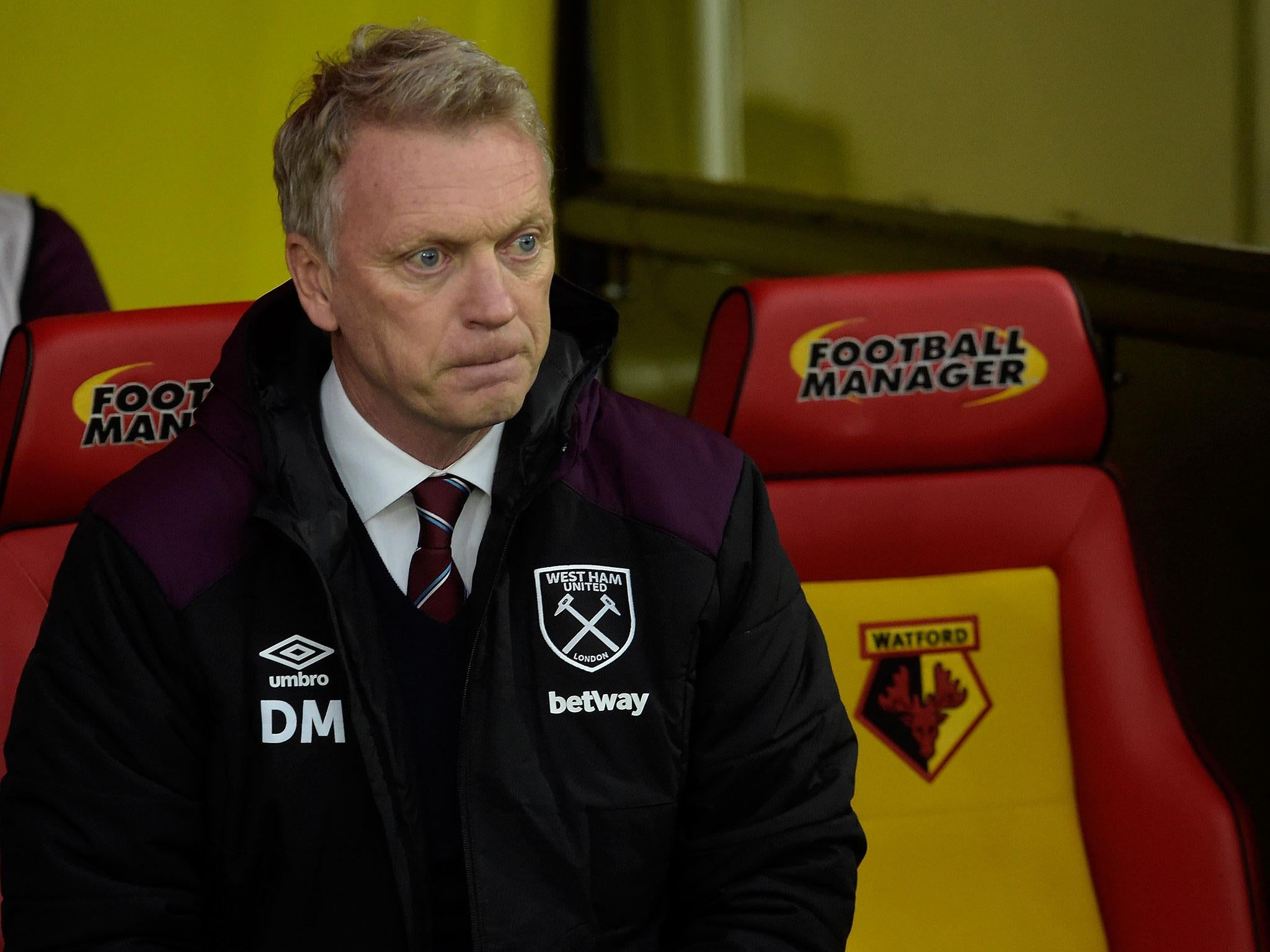 David Moyes accuses West Ham stars of letting the side down