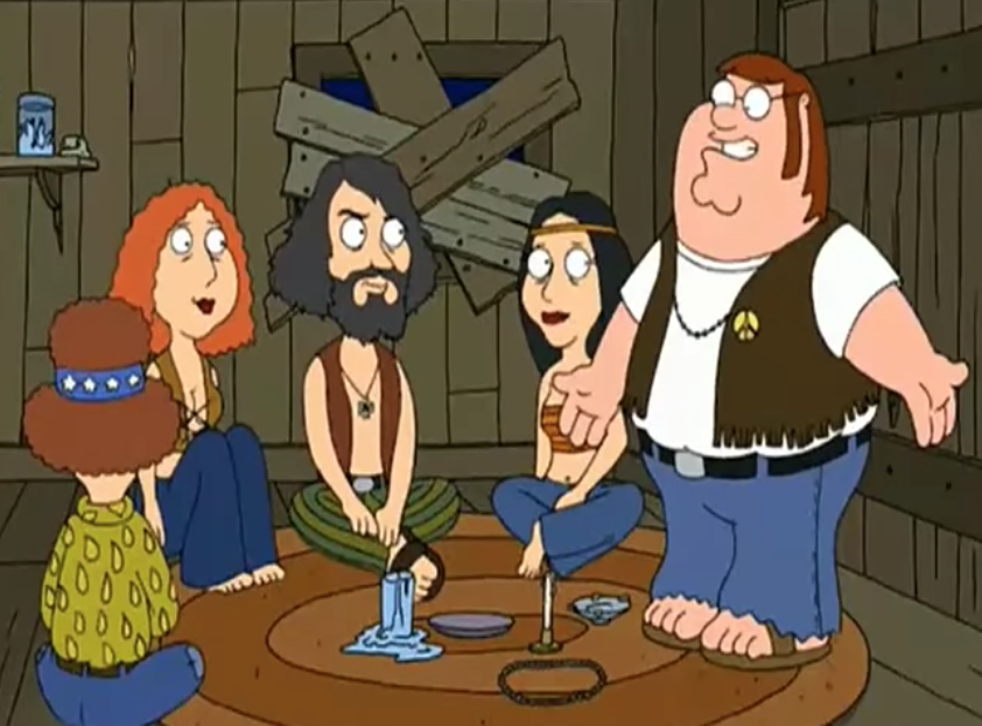 A scene from Family Guy referencing Charles Manson