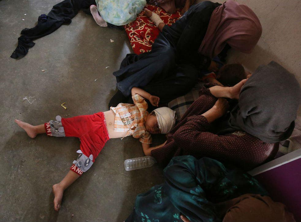 An injured child in Iraq. body really knows how many civilians have been killed in the country