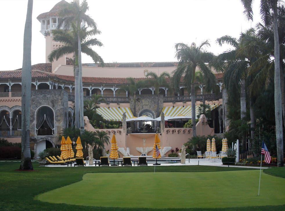 Donald Trump's Mar-a-Lago estate in Palm Beach, Florida