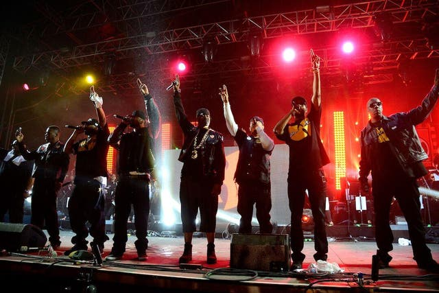 Wu-Tang Clan at a live show