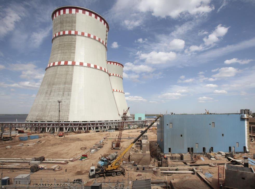 Kalininskaya nuclear power plant, around 175 miles northwest of Moscow